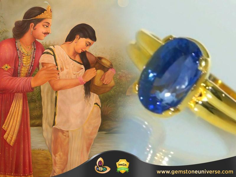 Dushyant Shakuntala Love Story & Brilliant Blue Sapphire
