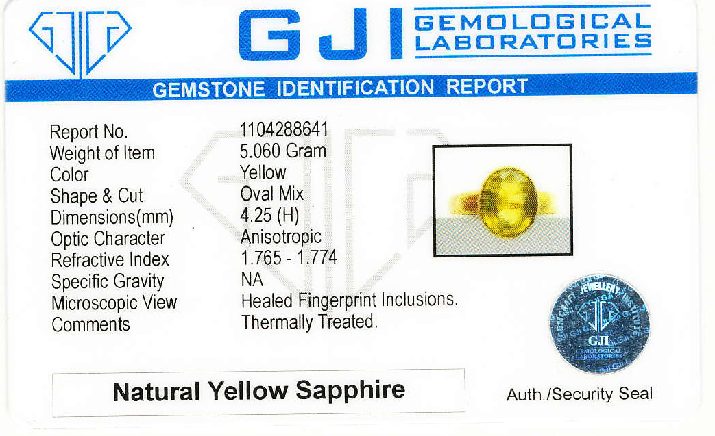 Bangkok Kanchanaburi Yellow & Blue Sapphires & Gem Therapy Failure