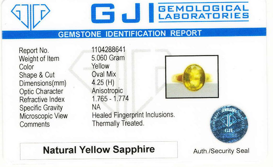 Bangkok Kanchanaburi Yellow & Blue Sapphires & Gem Therapy Failure