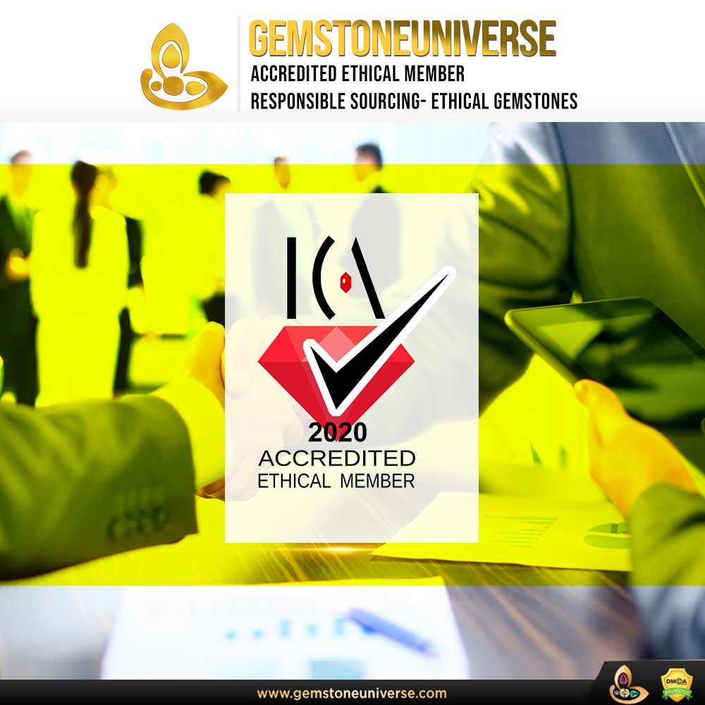 Gemstoneuniverse awarded Coveted Certification for providing responsibly sourced, ethically mined, conflict-free Gemstones.