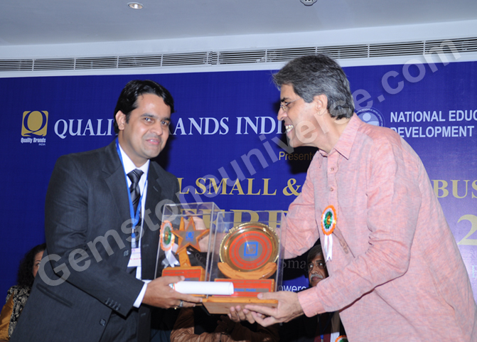 National Honour for Gemstoneuniverse | Quality Brands India Award for Gemstoneuniverse