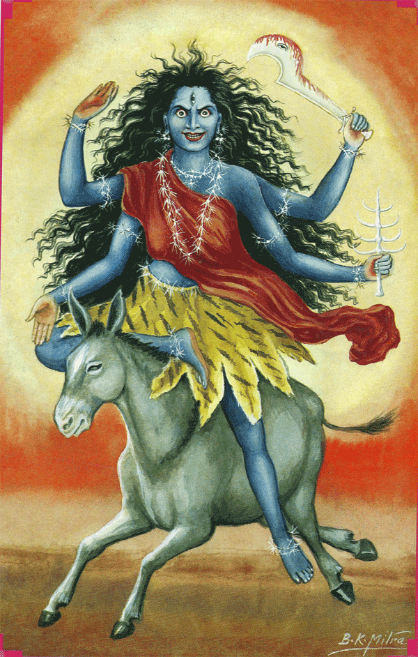 Navratna Stone VII | Navaratna Gemstone Blue Sapphire and Mother Kalratri