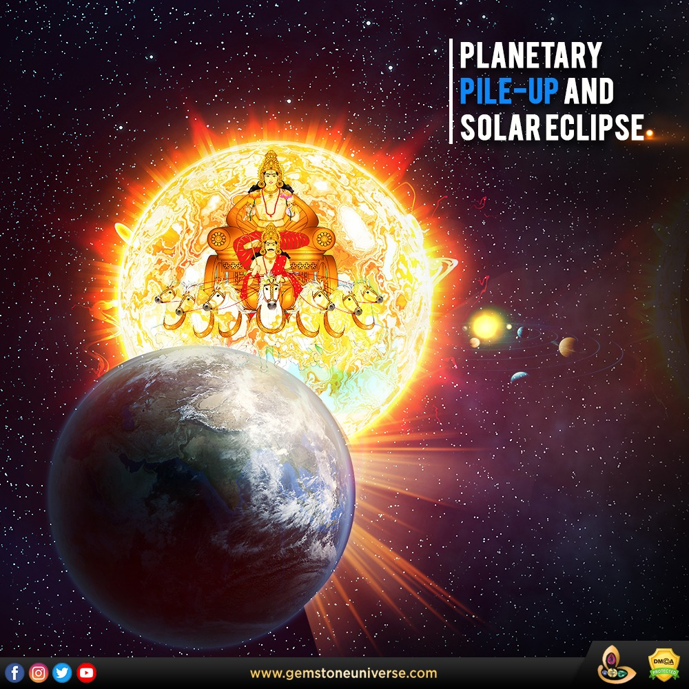 Planetary Pile-up and Solar Eclipse