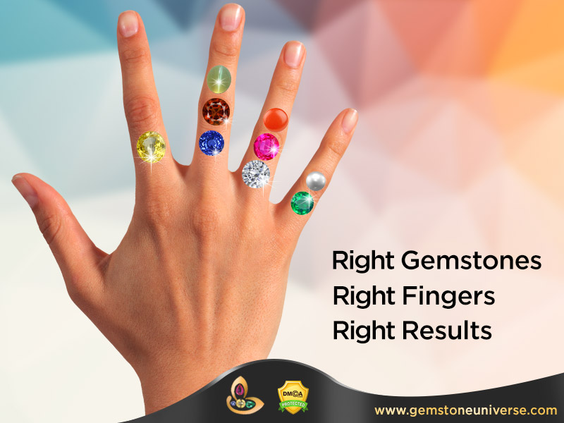 Correct hand and Fingers for wearing Astrology Gemstones | In Which finger to wear Blue Sapphire