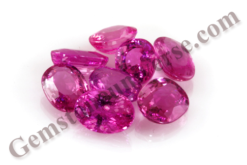 cts gemstone ruby rubi mix wholesale parcel rj natural faceted