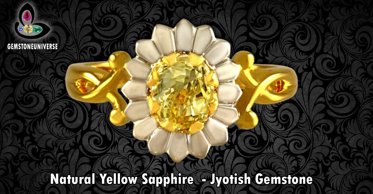 Yellow Sapphire Gemstone | Price Benefits Wearing Yellow Sapphire