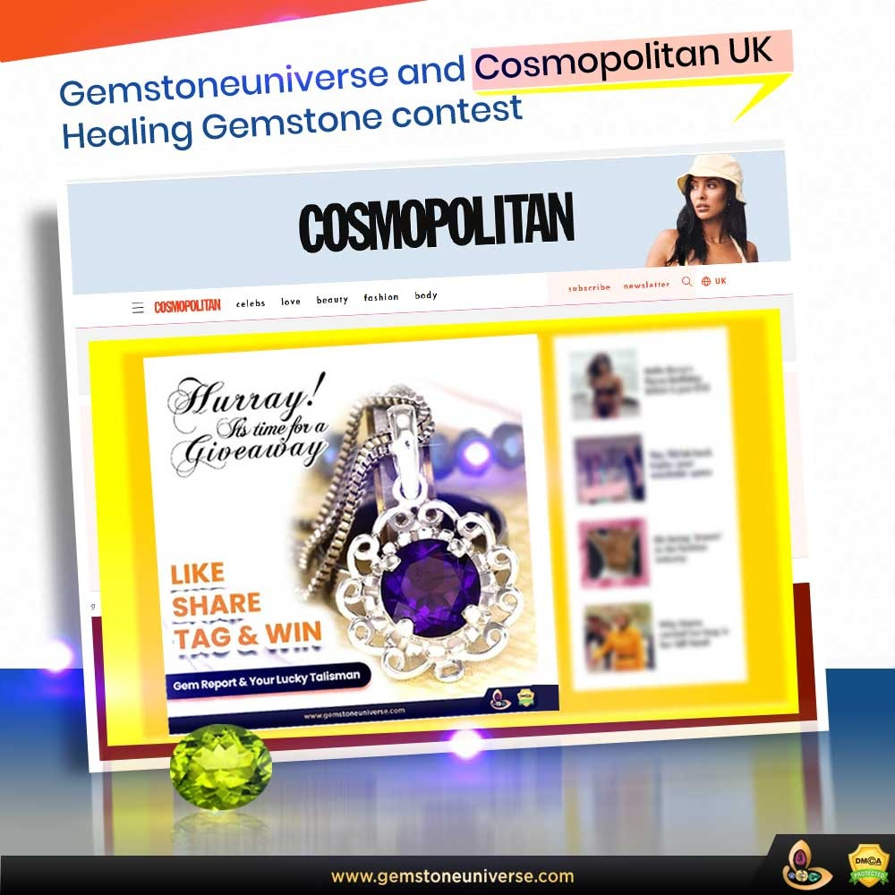 Win your lucky talisman from India, by Gemstone Universe! – In Collaboration with Cosmopolitan UK