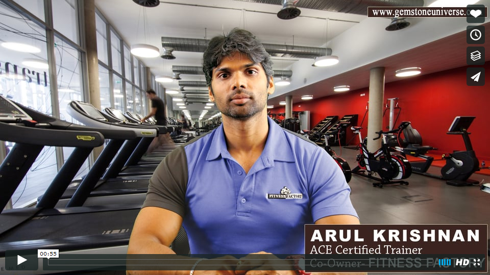 Arul Krishnan-Co founder Fitness Factory & ACE certified Fitness Expert