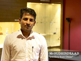 Mr. Sudhindra A.S - Jewellery Store Owner
