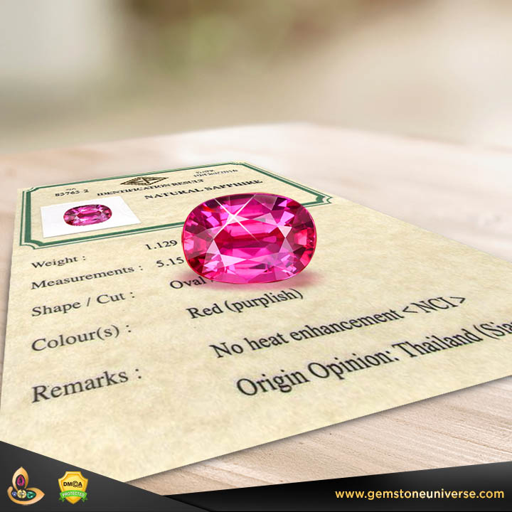 Gemstone Certification adds value to your gemstone