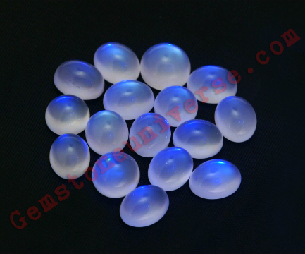 Blue Moonstones from Srilanka exhibiting Adularescence