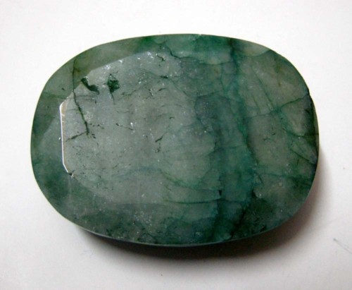 Non Gem Grade Beryl-Bogus Emerald treated with Joban Oil