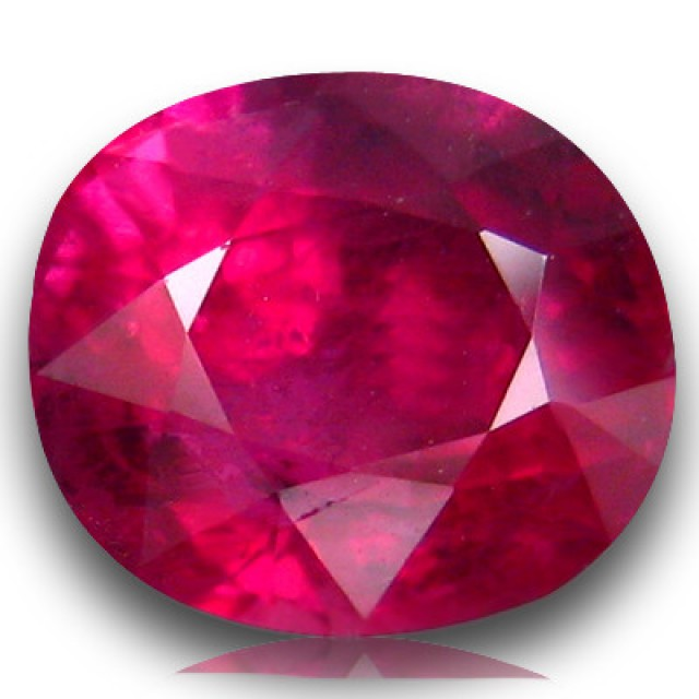 A 7 carats Thai Glass filled Ruby Typically Sold in Indian Markets