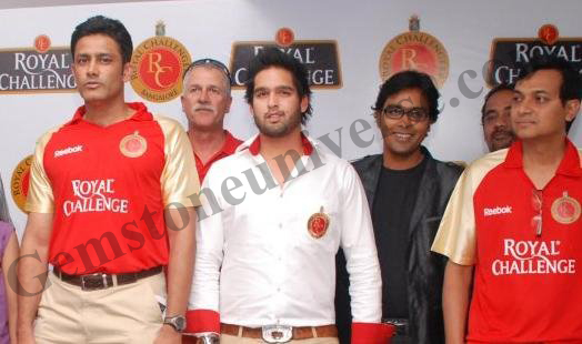 As official Host of RCB with Anil Kumble and Siddharth Mallya-UB Group