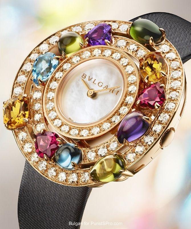 Blvgari Watch with Gemstones