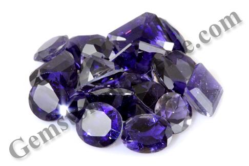 Deep Royal Blue and fantastic clarity in new Iolite Lot Karuna