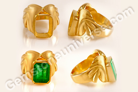 Detailed Views of the Colombian Emerald ring