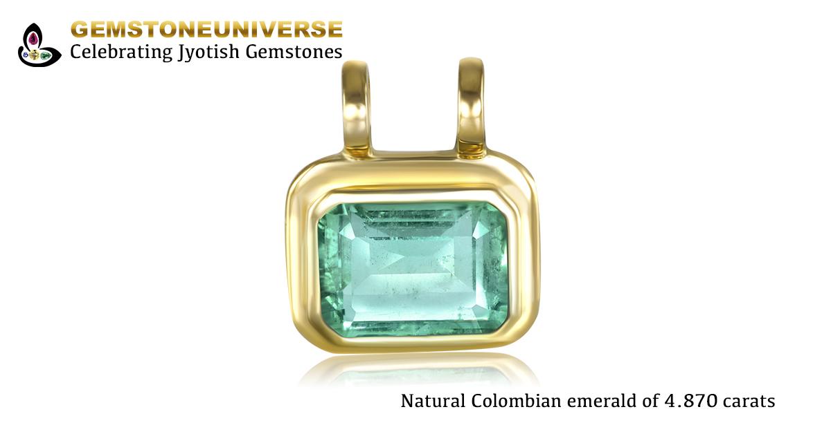 Fine Bespoke Colombian Emerald Pendant