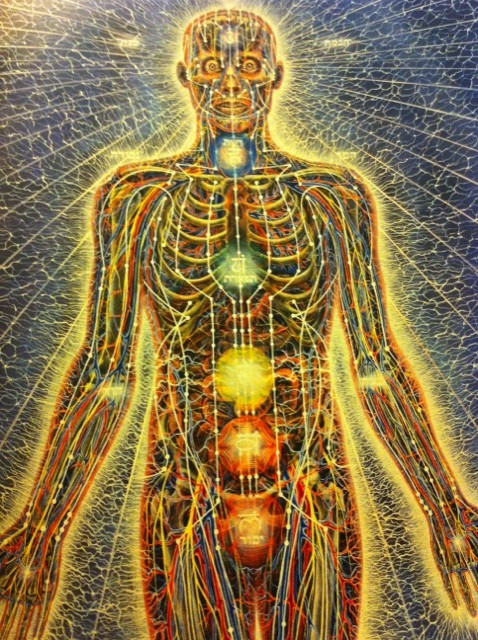 Human Body as an energy field, painting by Alex grey