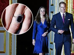 Kate Middleton Sporting Late Lady Diana's Blue Sapphire Diamond engagement ring