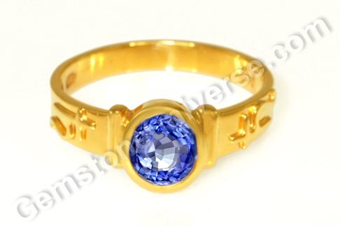 Natural Blue Sapphire of 3.03 carats Gemstoneuniverse