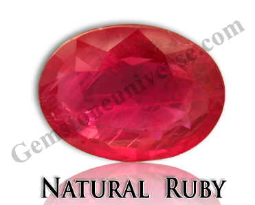 Natural Ruby Ruled by Sun can Balance the Muladhara Chakra