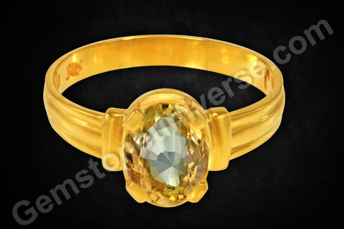 Natural Yellow Sapphire of 3.49 carats Gemstoneuniverse
