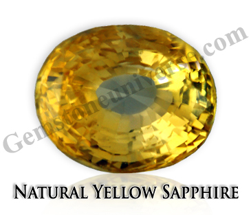 Natural Yellow Sapphire For healing the Throat Chakra