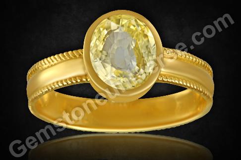 Natural Unheated Yellow Sapphire from Ratnapura Srilanka
