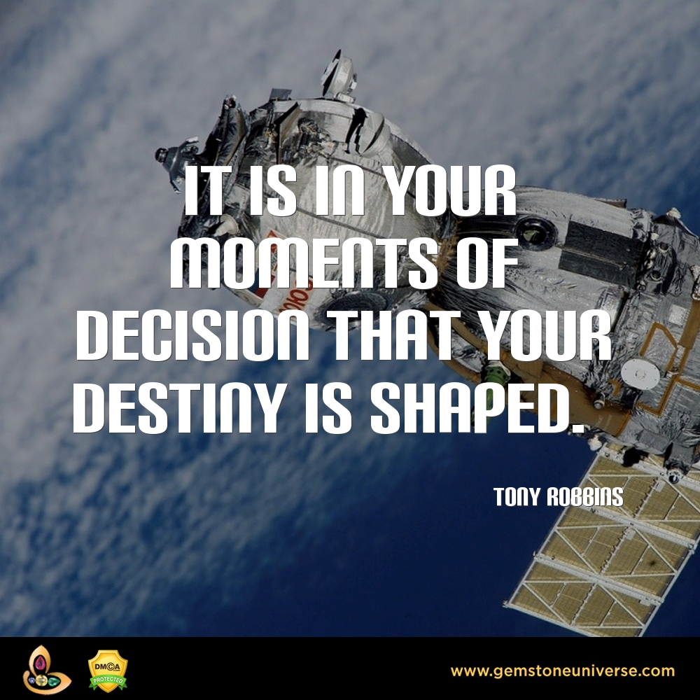 decision shapes your destiny