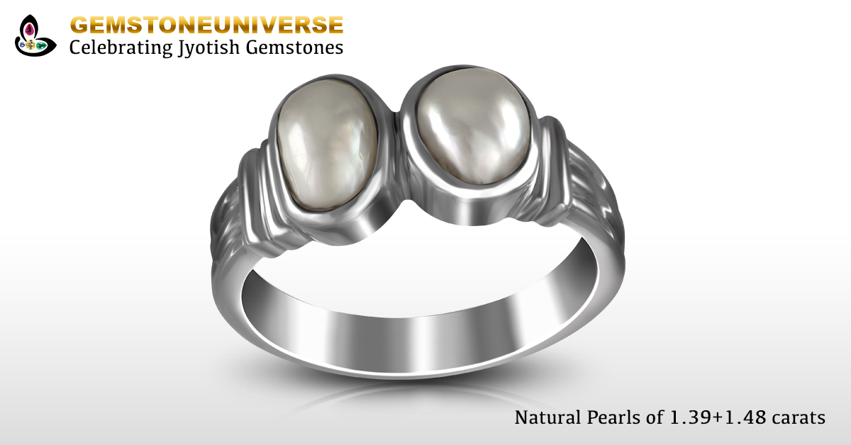 Patron has made a saving of more than 300% by combining two natural pearls