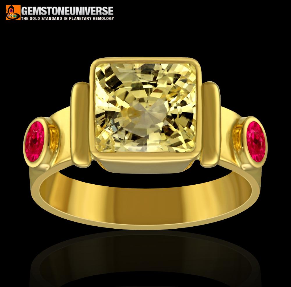 Pukhraj Stone ring