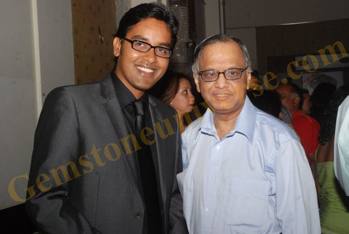 Rahul Kapoor with N.R Narayana Murthy-Cheif Mentor of Infosys Techonologies