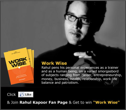 Rahul Kapoor's book Work Wise has been published by the Times Group