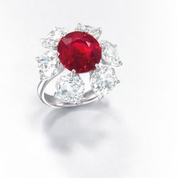 The world record setting Etcetera Ring with Burmese Ruby Image Courtesy The Gemstandard