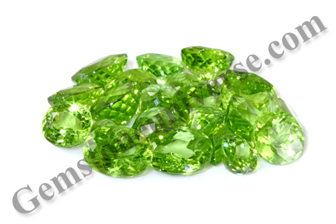 These Brilliant Mint Green Peridots were mined 11000 ft above the Himalayas