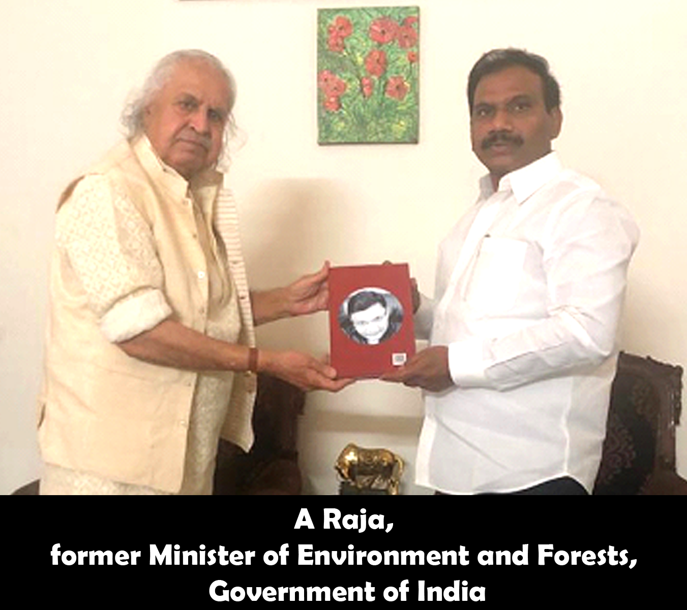 A Raja former Minister of Environment and Forests, Government of India releasing the secrets of Jyotish Gems