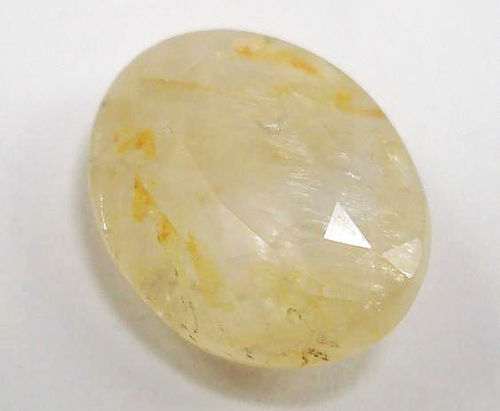 Low Grade Yellow Sapphire color enhanced by Dyeing and Irradiation with Cobalt60