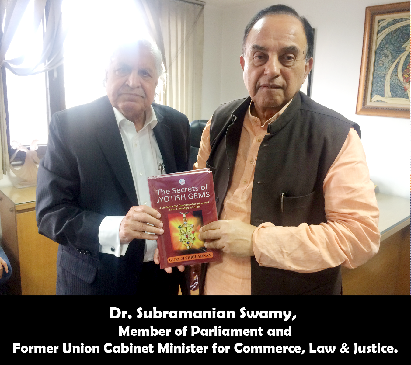 Dr. Subramanian Swamy,  Member of Parliament and Former Union Cabinet Minister for Commerce, Law & Justice releasing the secrets of Jyotish Gems