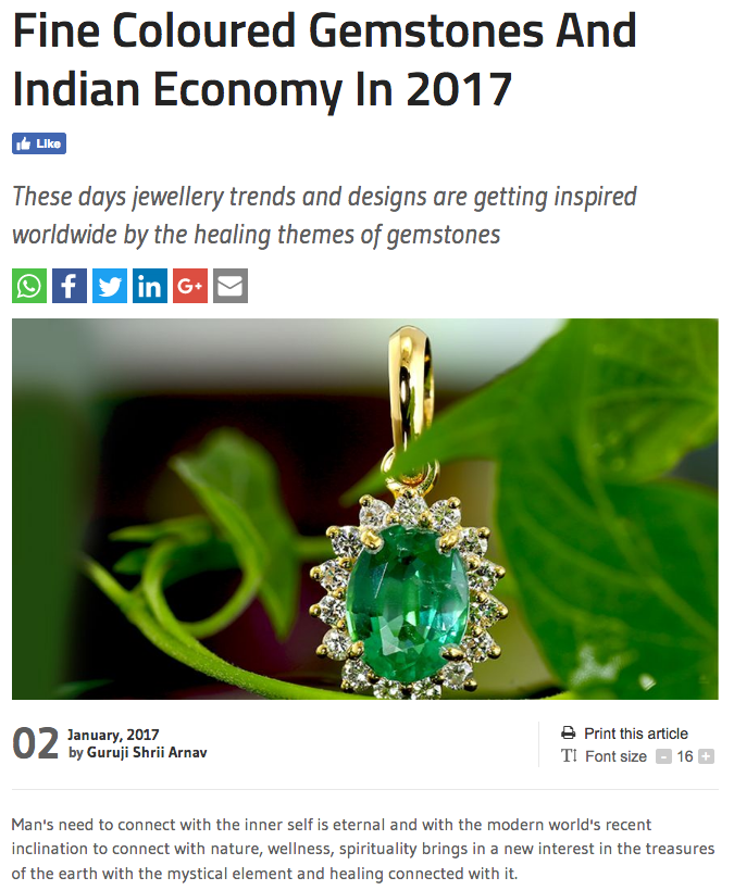 Fine Coloured Gemstones And Indian Economy In 2017