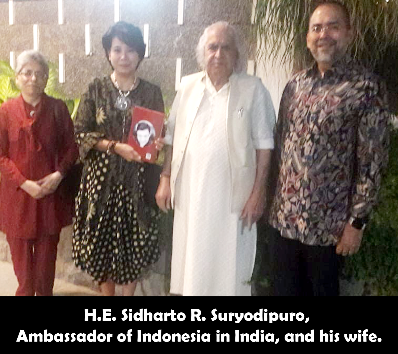 A Raja H.E. Sidharto R. Suryodipuro, Ambassador of Indonesia in India releasing the Secrets of Jyotish Gems