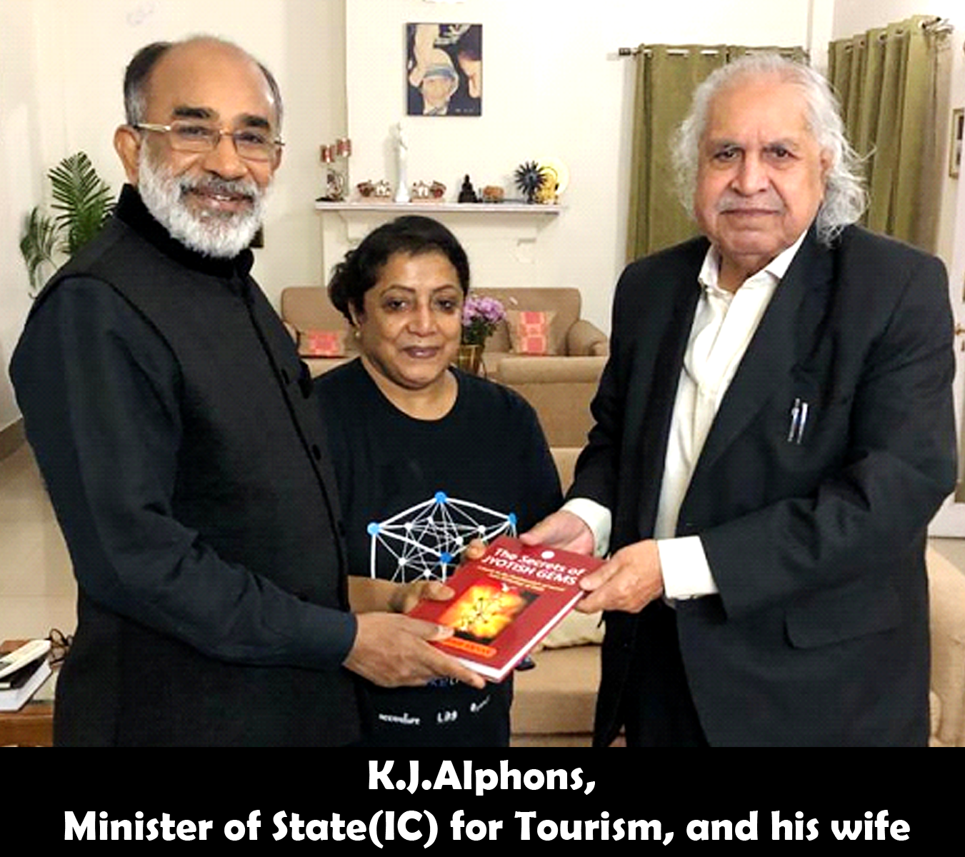 K.J.Alphons, Minister of State(IC) for Tourism releasing the secrets of Jyotish Gems